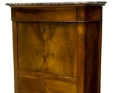 19Th Century French Louis Philippe Walnut Secretaire A Abbatant