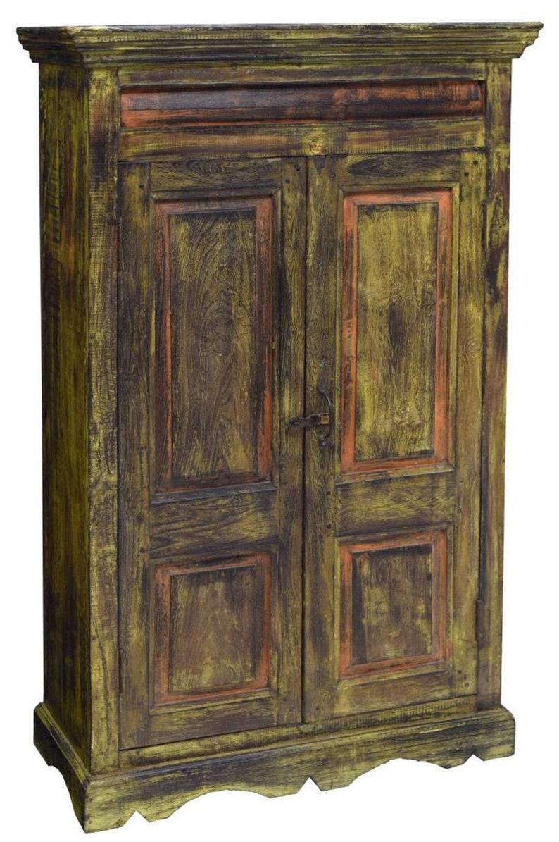 Antique dutch colonial polychrome teak wood kitchen cabinet etsy