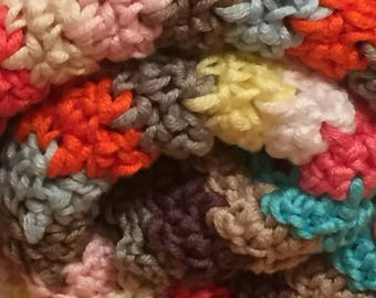 Crocheted cotton blanket