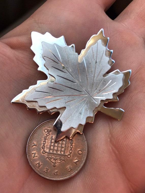 Boyd Bond Sterling Silver Canadian Maple Leaf Brooch
