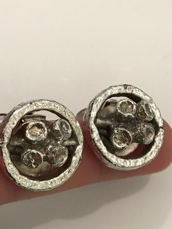 Modernist Jacob Hull Pod clip on earrings Denmark B+D Brutalist