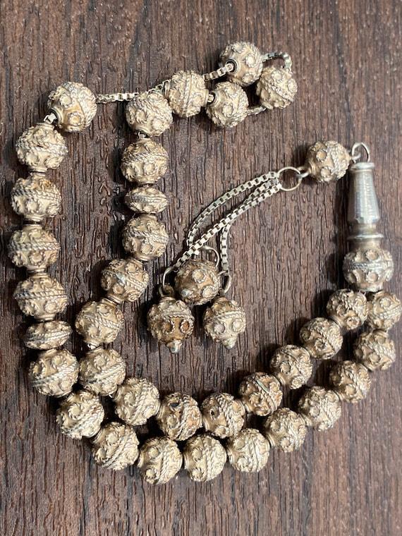 Vintage Islamic Tasbih tasbi Prayer beads Silver umrah Gift Ramadan