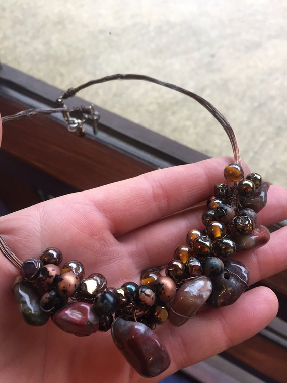 Designer MANOUK  statement piece necklace
