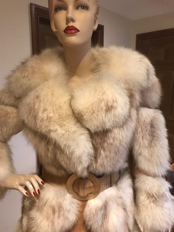 Original 1960-70s suede and fur panelled long coat Penny lane boho hippie vintage Uk size 8