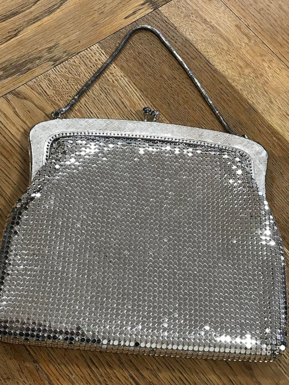 Vintage Silver Mesh Signature evening bag by OROTON c1970s