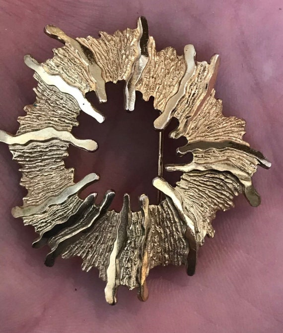 Modernist Rolled Gold brooch by Andreas Daub.
