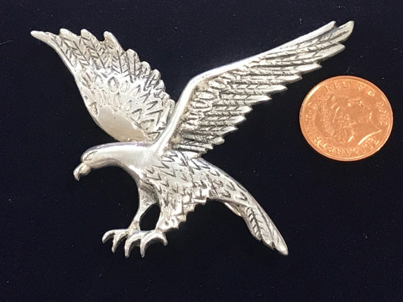 Large Vintage 900 Sterling silver Mexican eagle brooch/pin