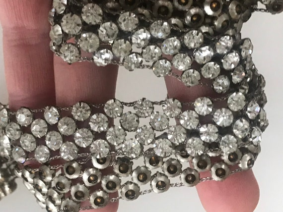 Vintage 1920s art deco crystal chain belt 34 inches in length