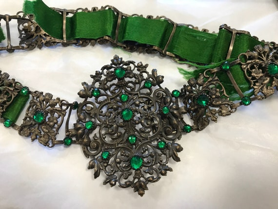 Stunning ornate Victorian ladies belt griffin design