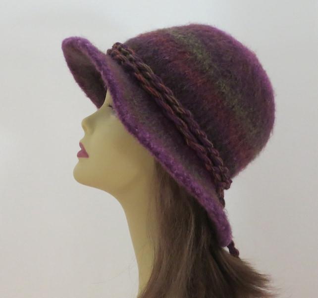 Felted Hat Pattern 203 Flat Brim Hat Felt Hat Knitting | Etsy