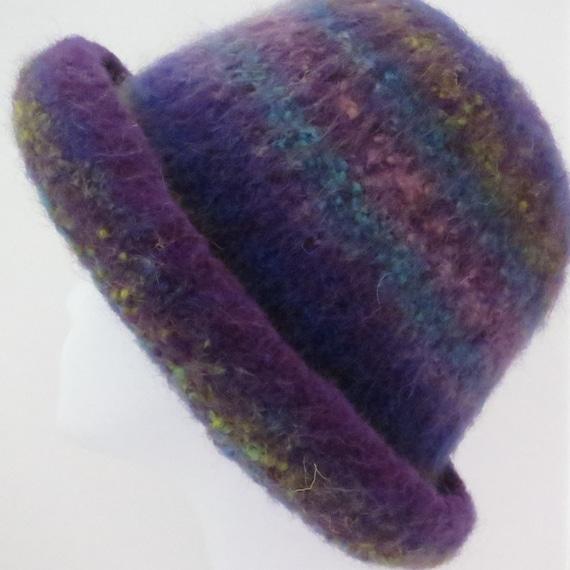 Felted Hat Pattern 202 Felted Bowler Felt Hat Knitting | Etsy