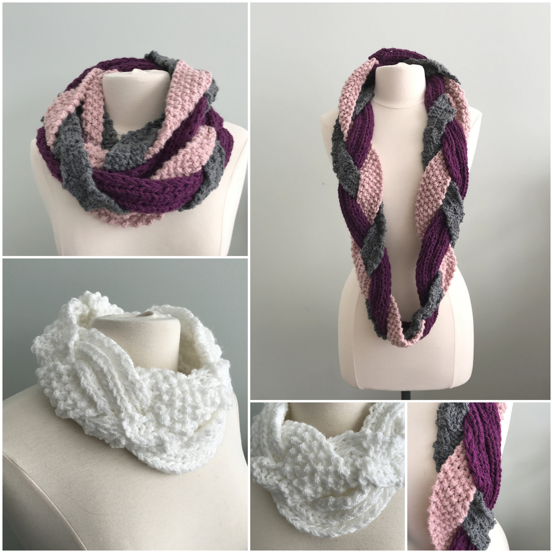 Cowl Knitting Pattern, Challah Braided Cowl, Bulky Yarn, Trending ...