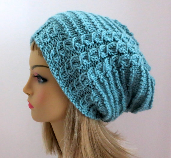Hat Knitting Pattern For Slouch Hat Beanie Tam Etsy