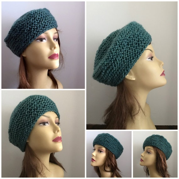 Hat Knitting Pattern French Toque Beanie Stash Buster Etsy
