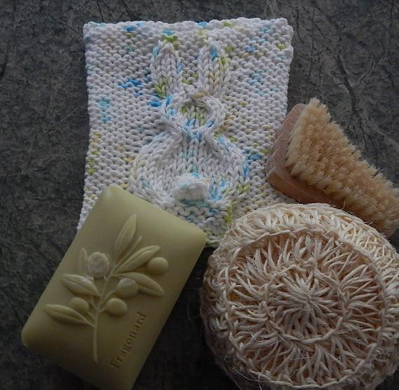 PDF 104 Bunny Spa Cloth Knitting Pattern Wash Cloth Cloth | Etsy