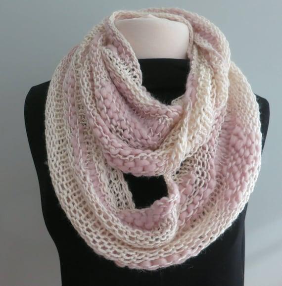 Cowl Knitting Pattern Thick and Thin Yarn Beginner Knitting | Etsy