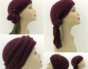 Hat Knitting Pattern, Bohemian Sahara. Head Wrap Many Options, Beanie