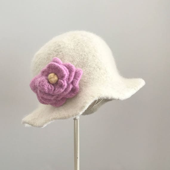 Boho Felted Hat Pattern Knit and Felt Hat Felt Hat Pattern | Etsy
