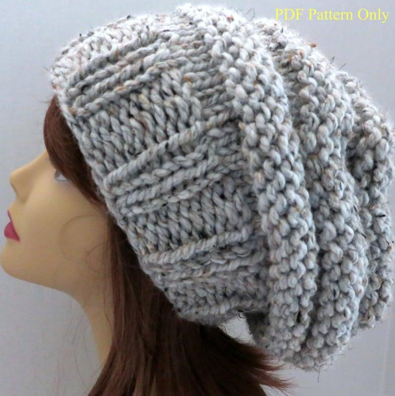 761f8398ca2 PDF 108 Beehive Hat Pattern Knitting Women Hat Slouchy Hat