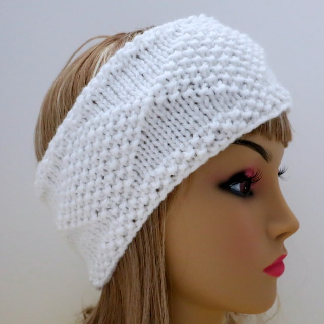 Pdf 129 Pattern Headband Knit Diamonds Knitting Pattern Pdf Etsy