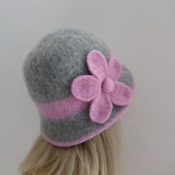 Felted Hat Pattern 201 Downton Cloche Felt Hat Knitting | Etsy