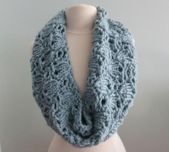 Knitting Pattern Cowl Infinity Scarf Super Bulky Yarn Etsy