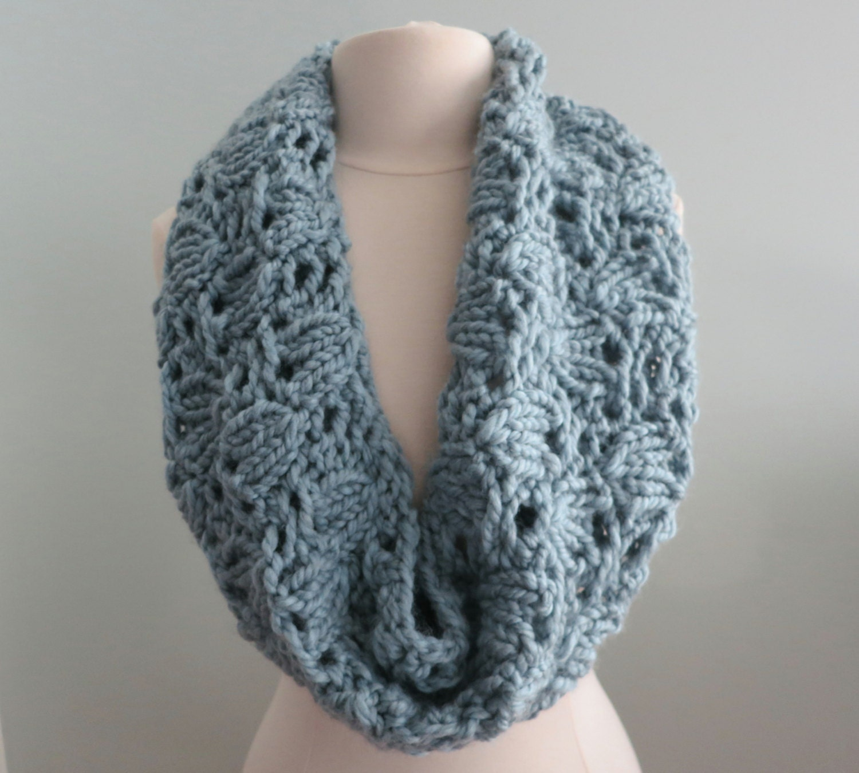 Knitting Pattern, Cowl, Infinity Scarf, Super Bulky Yarn, Chunky ...