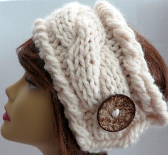 Pdf 138 Pattern Knitting Pattern Chunky Headband Earwarmer Pdf Etsy