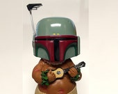 Boba Fett Hulatrooper Chubby Male w Ukulele (It Bobbles ) - 8in Height - ONLY ONE AVAILABLE