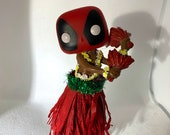 Deadpool Hula with adhesive bottom 5.25in height