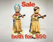 Evil Rick and Morty (pair for 50.00) Dashboard Hula (4.5 quot height)