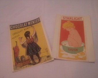 Vintage Of Late 1890s Posters Ads Reproduction Postcards