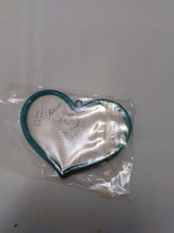 Vintage Mini Heart Shape Stitch Frames Etsy