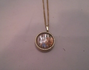 Vintage Collection - Small Floral Locket Necklace