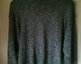 Vintage Metallic Batwing Sweater