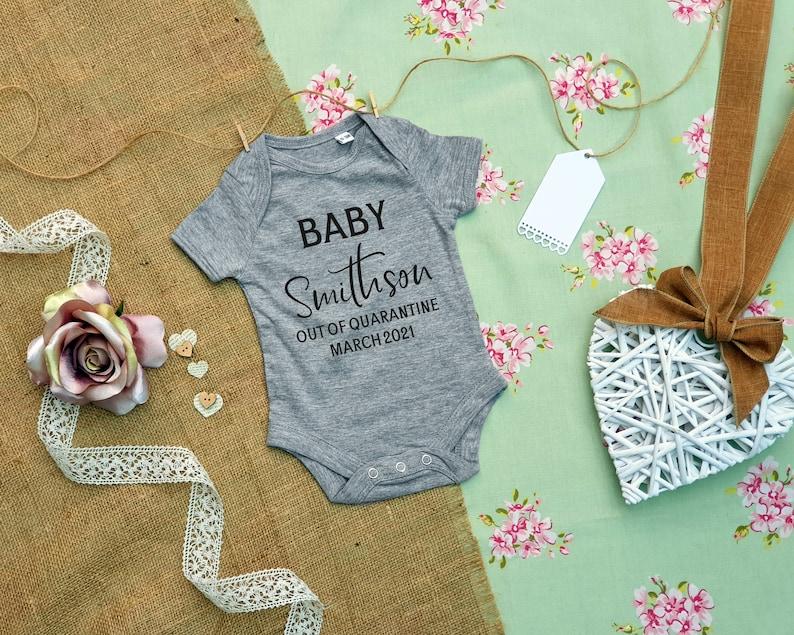 Lockdown Baby Lockdown Baby  Quarantine Baby Announcement Baby Announcement Out of Quarantine Baby First Baby Announcement