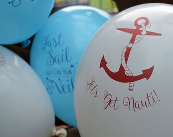 Last Sail before the Veil Hen Party Balloons - Hen Night Balloons - Sailor Hen Party - Nautical Hen Night Range
