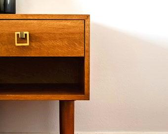 SALES!Mid Century Nightstand/ Mid Mod Bedside Table/ Scandinavian Night Table/ Custom Made/ Handmade