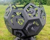 """18"""" Dragon Fire Pit Sphere/Globe - Custom Available - Ships UPS"""