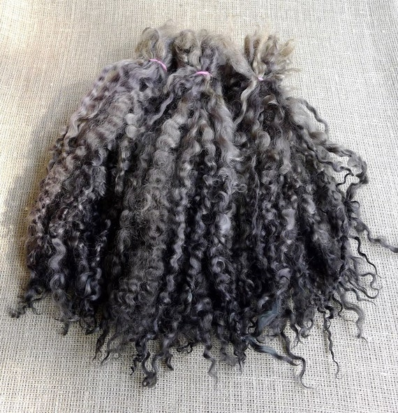 6 Colors Mix Hand Dyed Heidifeathers® Curly Mohair Wool Locks Dolls Felting