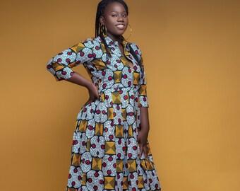 Women's Dress,African Print Dress-African Clothing-Ankara Clothing-Ankara Dress-African Fashion-