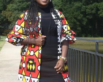 African Print Jacket, Ankara Jacket, Women's Jacket, Ankara Coat, African Print Jacket, African Print Clothing