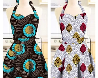 Gift for her-African Print Apron-Ankara Apron-Apron for Mom-African Clothing-African Fashion