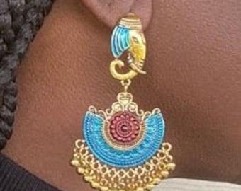 Gift for Her, Elephant Earrings, Animal Earrings,