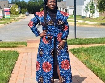 African Print Coat, Women's Coat, Ankara Jacket, Women's Jacket, Ankara Coat, African Print Jacket, African Print Clothing