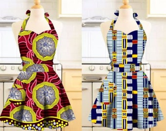 Gift for her-African Print Apron-Ankara Apron-Apron for Mom-African Clothing-African Fashion, Holiday Gift