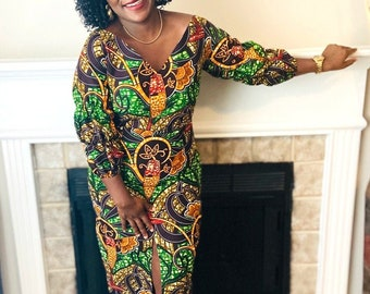 African Clothing for Women-African Clothing-Ankara Dress-African Print Dress-Women's Clothing-Ankara Clothing-African Fashion-African Fabric