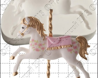 Carousel Horse mould (mold) - 'Carousel Horse' silicone mold by FPC Sugarcraft   resin mold, fimo mold, clay mold, soapmaking mold C181