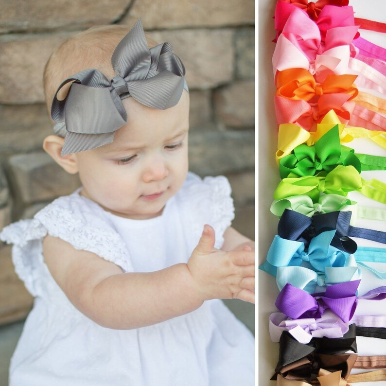 Qualified Cute Baby Girls Toddler Turban Solid Headband Hairbands Bow Accessories Headwear Latest Technology Clothing, Shoes & Accessories