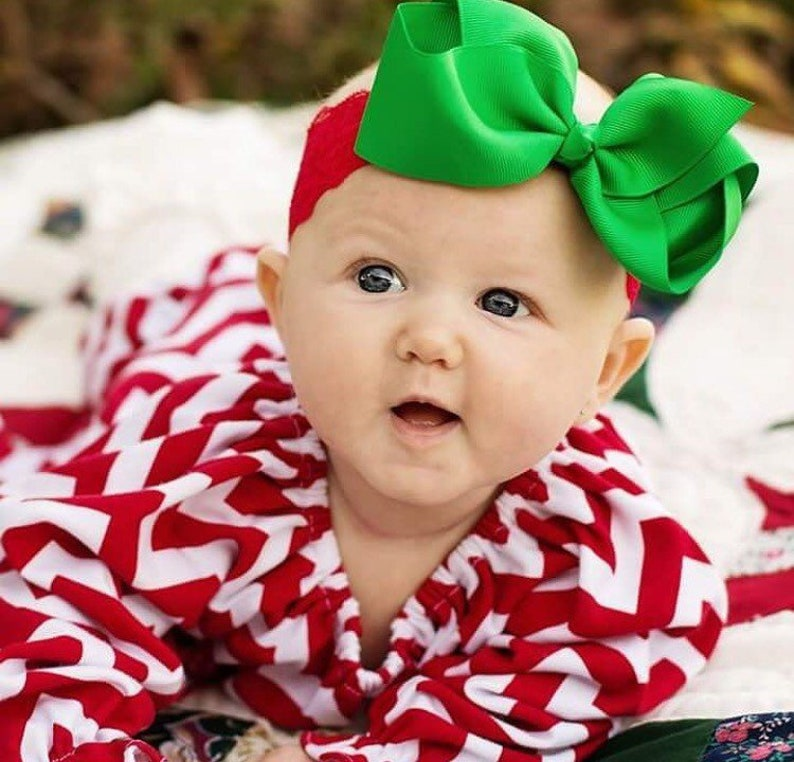 Christmas Headband For Baby Girl.Christmas Headbands For Baby Girl Red And Green Headbands Baby First Christmas Christmas Photoshoot